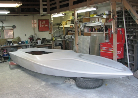 The new 2015 Terminator Tunnel race hull designed for our new Top Fuel Jet